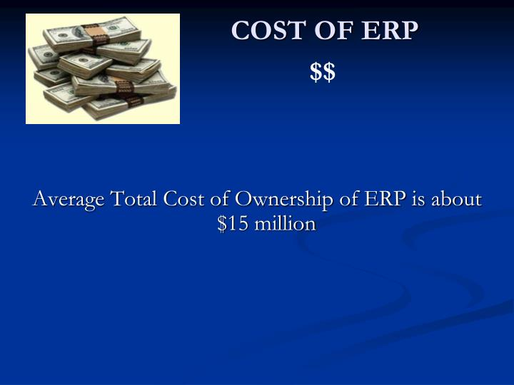 COST OF ERP