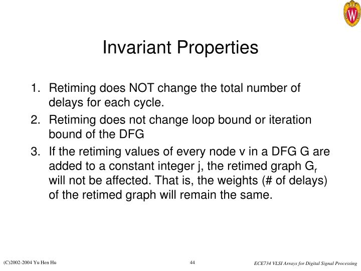 Invariant Properties