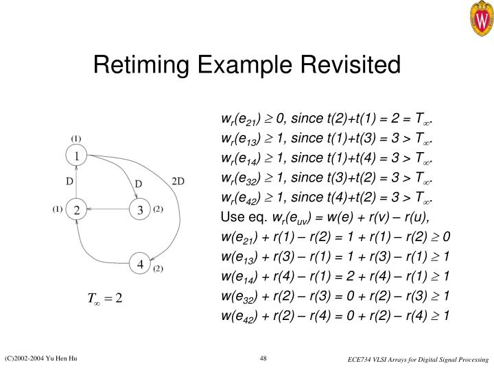 Retiming Example Revisited