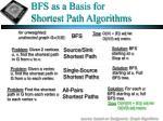 bfs as a basis for shortest path algorithms