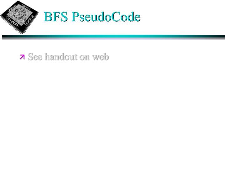 BFS PseudoCode