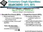 elementary graph algorithms searching dfs bfs