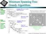 minimum spanning tree greedy algorithms