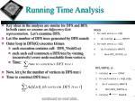 running time analysis