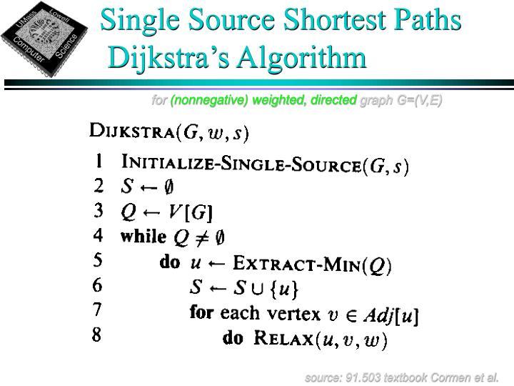 Single Source Shortest Paths