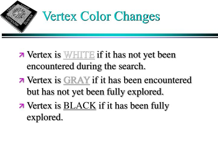Vertex Color Changes