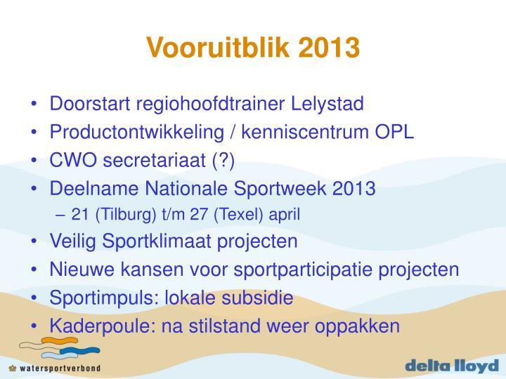 Vooruitblik 2013
