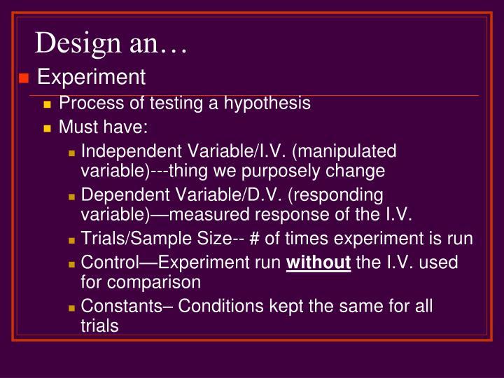 Design an…