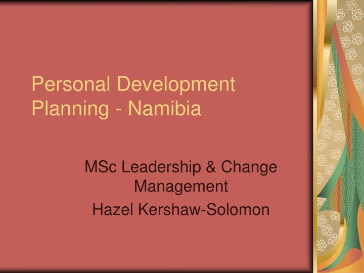 Personal Development Planning - Namibia