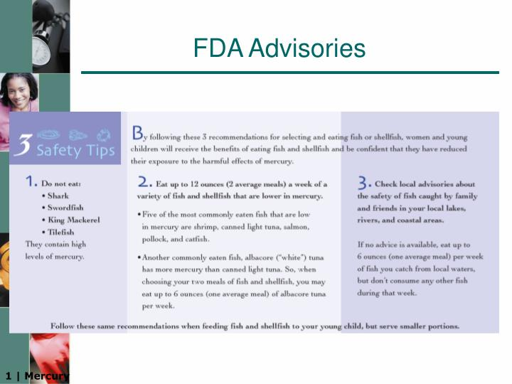 FDA Advisories