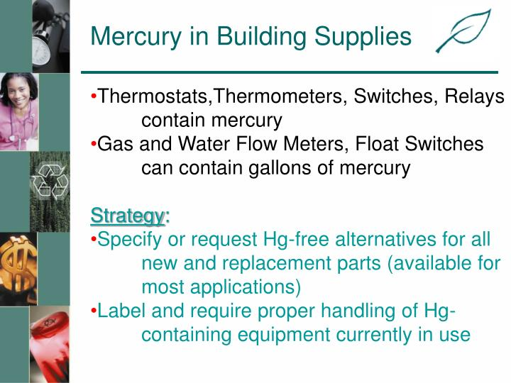Mercury in Building Supplies