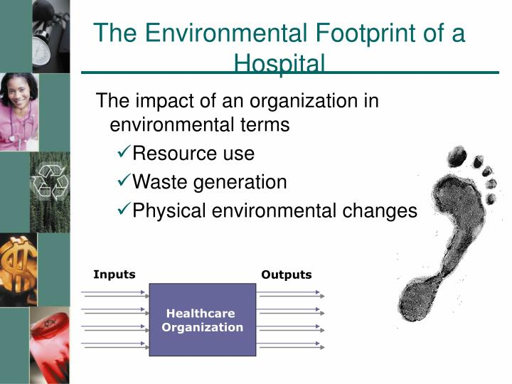 The environmental footprint of a hospital