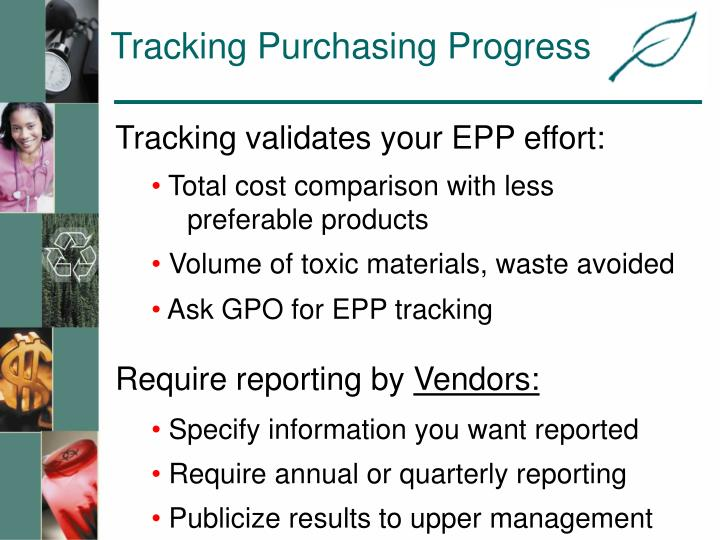 Tracking Purchasing Progress
