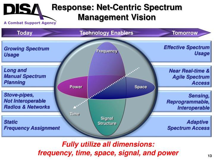 Response: Net-Centric Spectrum