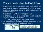 constante de disociaci n b sica