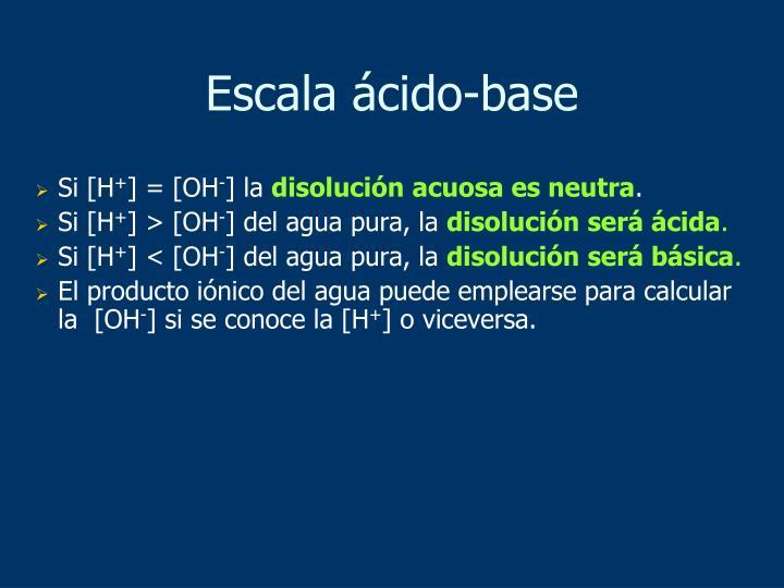 Escala ácido-base