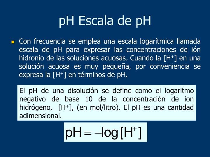 pH Escala de pH