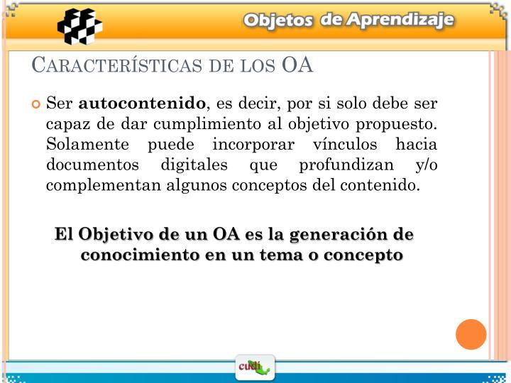 Características de los OA