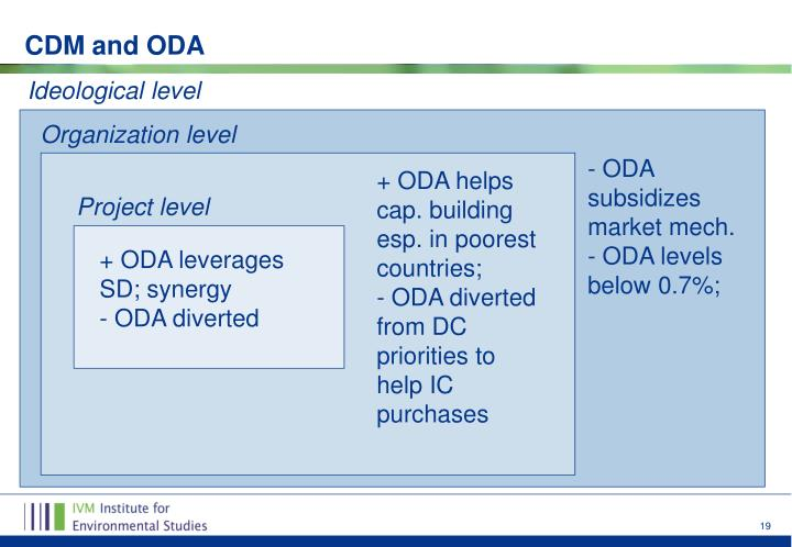 CDM and ODA