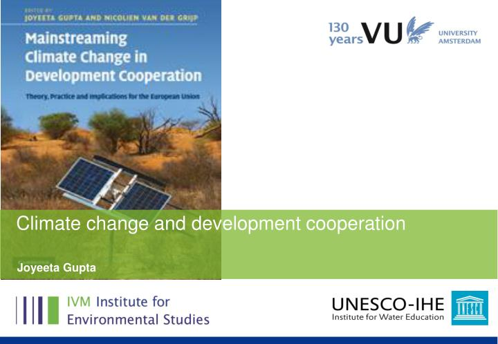Climate change and development cooperation