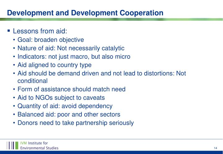 Lessons from aid: