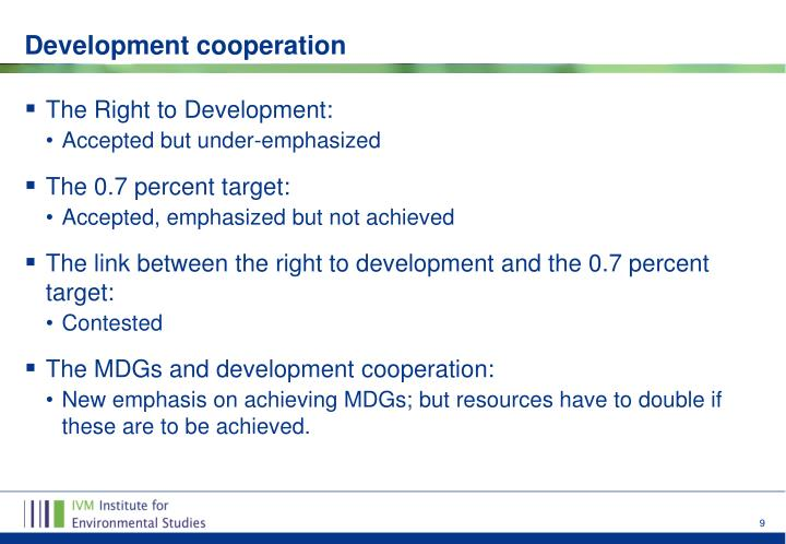 The Right to Development: