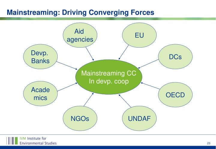 Mainstreaming: Driving Converging Forces