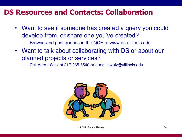 DS Resources and Contacts: Collaboration