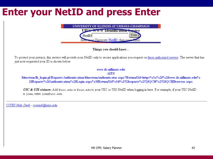Enter your NetID and press Enter