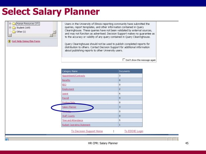 Select Salary Planner