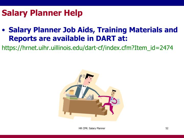 Salary Planner Help