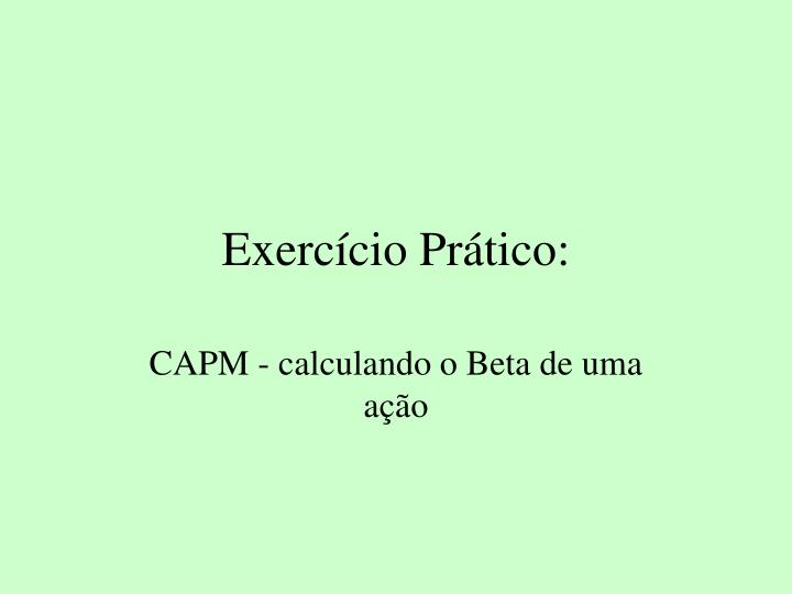 Exerccio Prtico:
