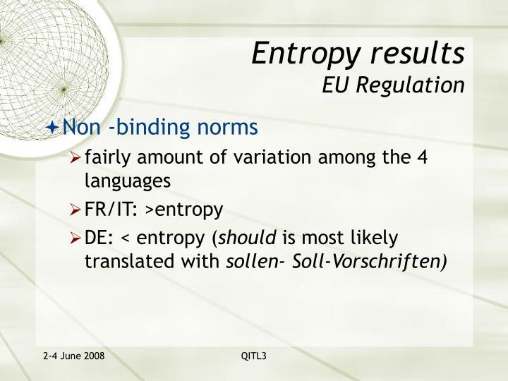Entropy results