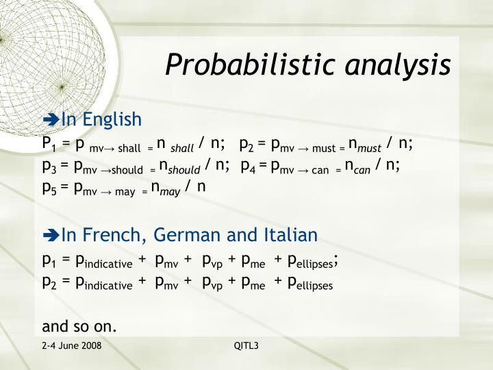 Probabilistic analysis