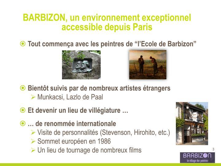 BARBIZON, un environnement exceptionnel accessible depuis Paris