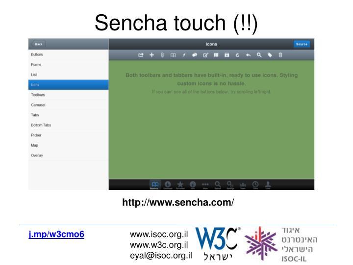 Sencha touch (!!)