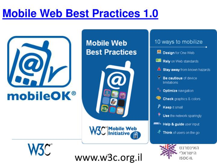 Mobile Web Best Practices 1.0