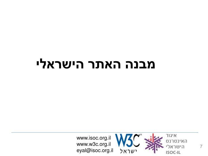 מבנה האתר הישראלי