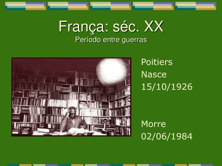 França: séc. XX