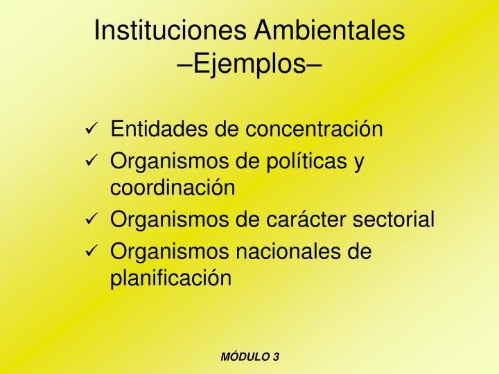 Instituciones Ambientales