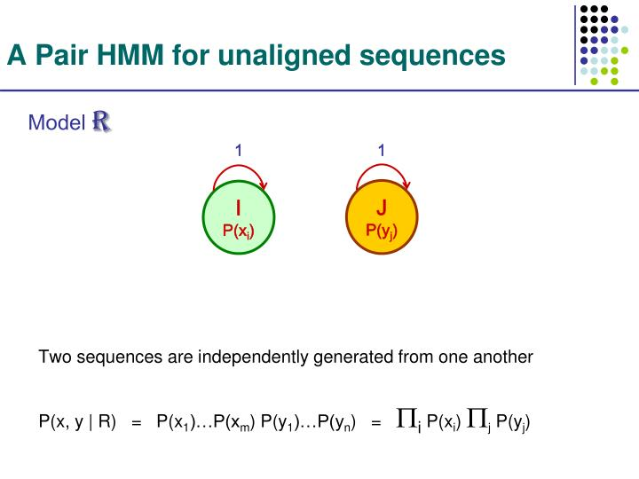 A Pair HMM for unaligned sequences