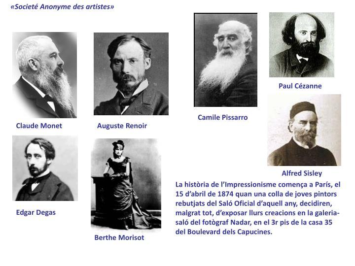 «Societé Anonyme des artistes»