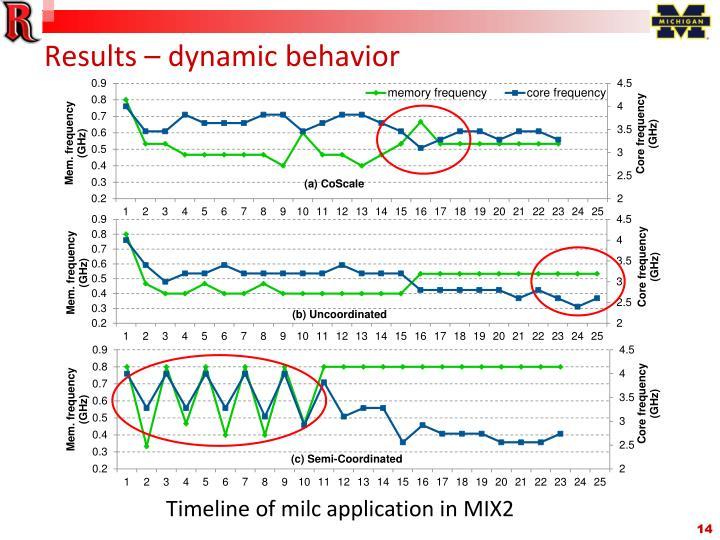 Results – dynamic behavior
