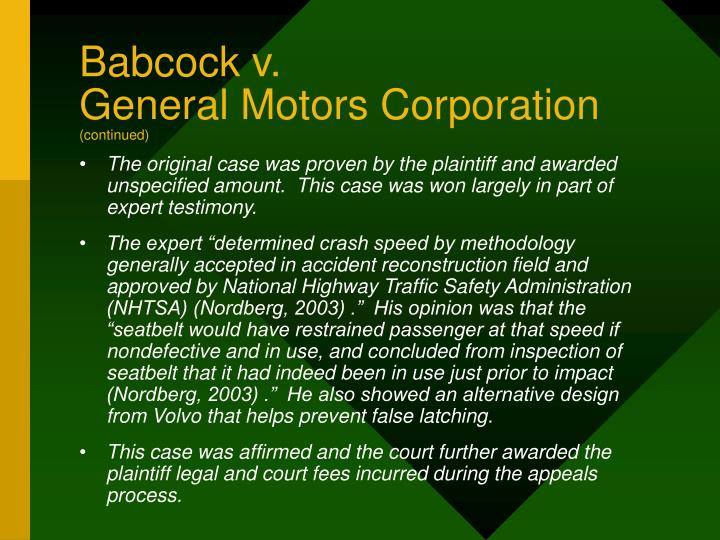 Babcock v.
