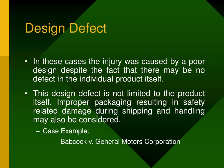 Design Defect