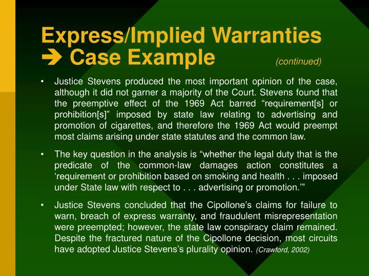 Express/Implied Warranties