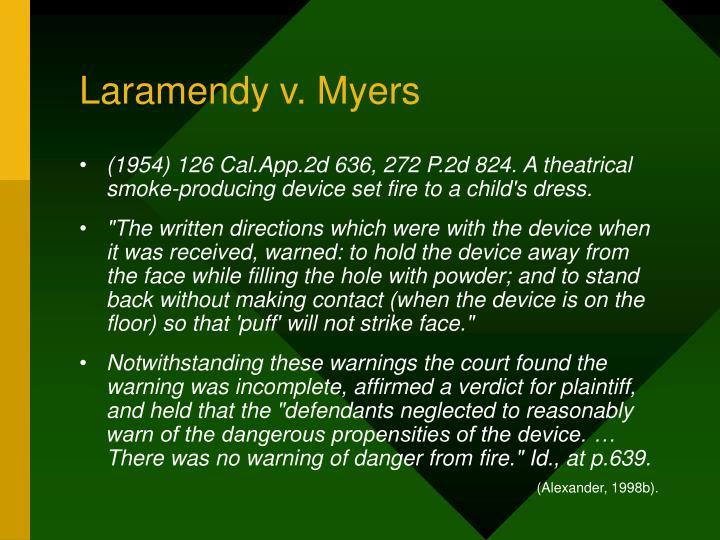 Laramendy v. Myers