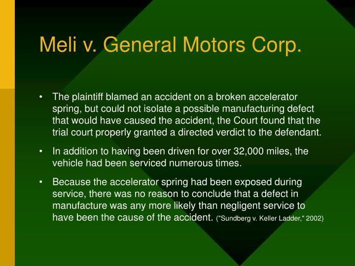 Meli v. General Motors Corp.