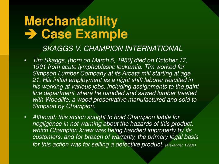 Merchantability