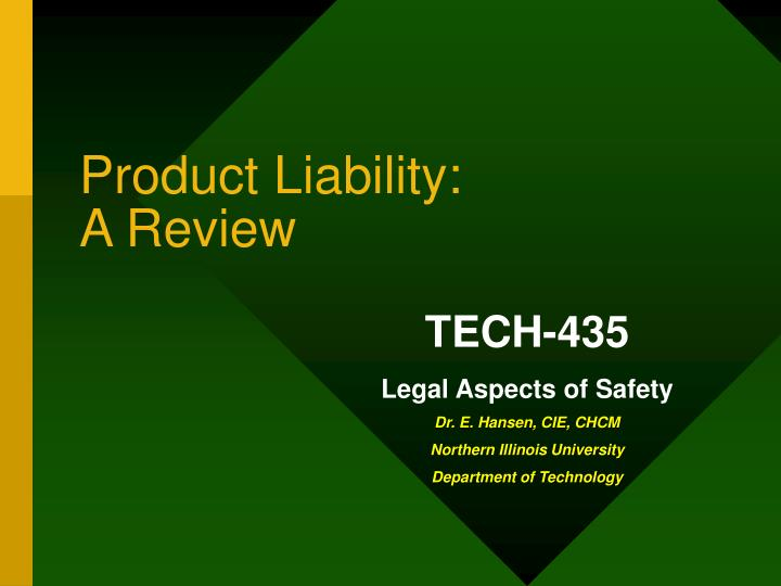 Product liability a review